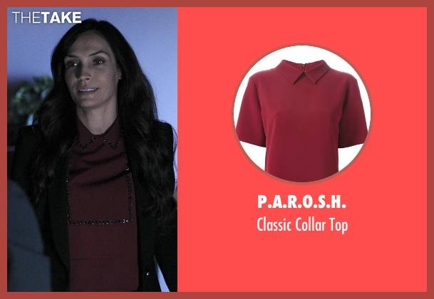 P.A.R.O.S.H. red top from How To Get Away With Murder seen with Eve Rothlow (Famke Janssen)