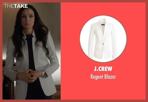J.Crew white blazer from How To Get Away With Murder seen with Eve Rothlow (Famke Janssen)