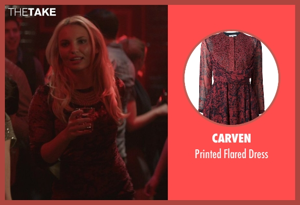 Carven red dress from That Awkward Moment seen with Evelina Turen (Sophie)