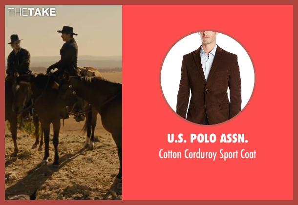 U.S. Polo Assn. brown coat from Jane Got A Gun seen with Ewan McGregor (Colin McCann)