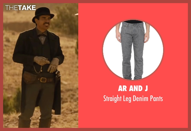 Ar and J gray pants from Jane Got A Gun seen with Ewan McGregor (Colin McCann)