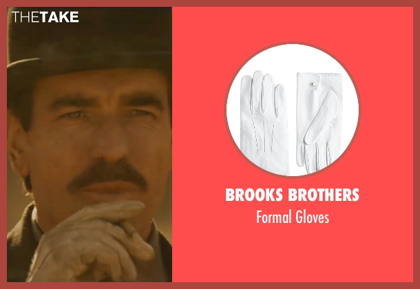 Brooks Brothers white gloves from Jane Got A Gun seen with Ewan McGregor (Colin McCann)