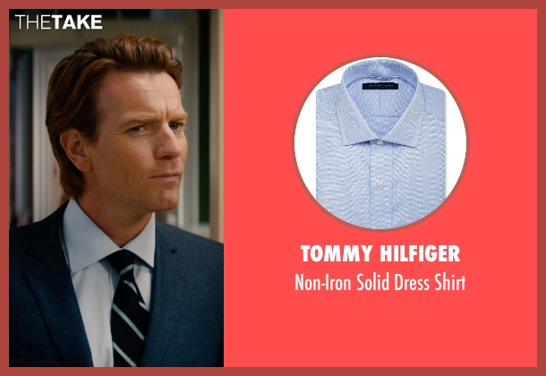 Tommy Hilfiger blue shirt from Mortdecai seen with Ewan McGregor (Inspector Martland)