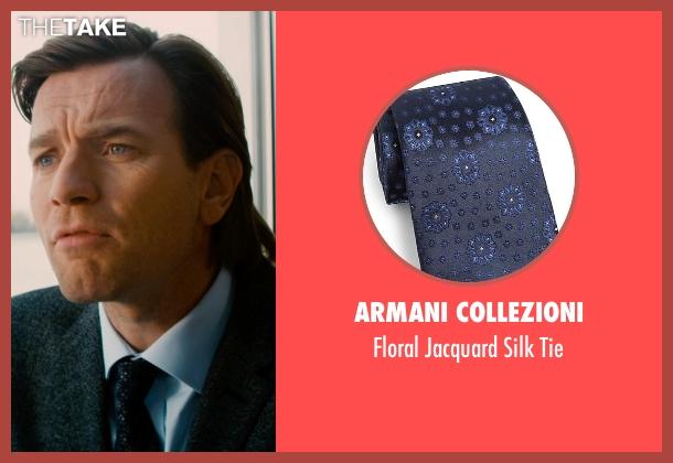 Armani Collezioni blue tie from Mortdecai seen with Ewan McGregor (Inspector Martland)