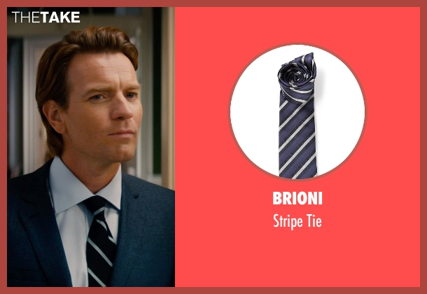 Brioni blue tie from Mortdecai seen with Ewan McGregor (Inspector Martland)