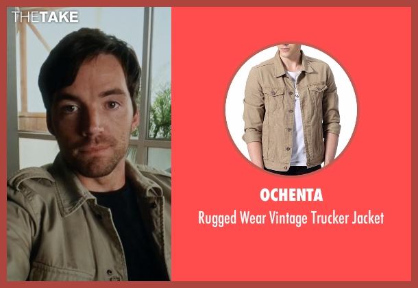 Ochenta beige jacket from Pretty Little Liars seen with Ezra Fitz (Ian Harding)