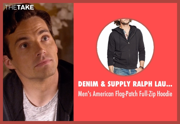 Denim & Supply Ralph Lauren black hoodie from Pretty Little Liars seen with Ezra Fitz (Ian Harding)