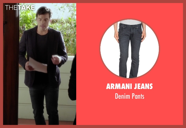 Armani Jeans black pants from Pretty Little Liars seen with Ezra Fitz (Ian Harding)