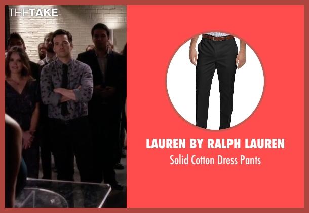Lauren By Ralph Lauren black pants from Pretty Little Liars seen with Ezra Fitz (Ian Harding)