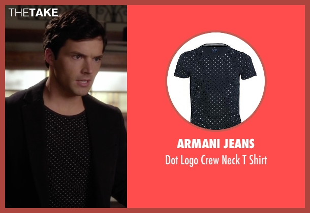 Armani Jeans black shirt from Pretty Little Liars seen with Ezra Fitz (Ian Harding)
