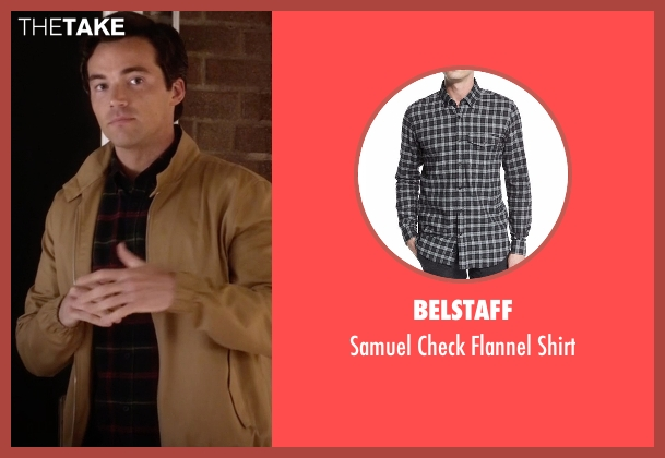 Belstaff black shirt from Pretty Little Liars seen with Ezra Fitz (Ian Harding)
