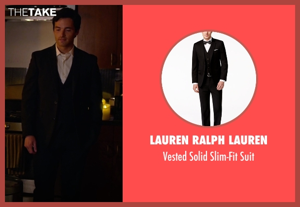 Lauren Ralph Lauren black suit from Pretty Little Liars seen with Ezra Fitz (Ian Harding)