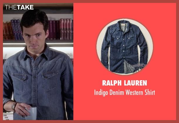 Ralph Lauren blue shirt from Pretty Little Liars seen with Ezra Fitz (Ian Harding)