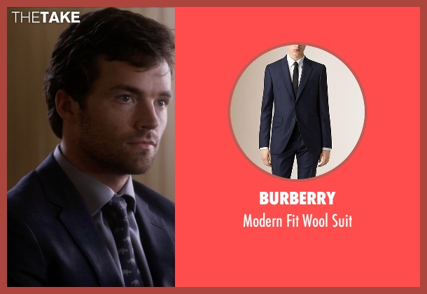 Burberry blue suit from Pretty Little Liars seen with Ezra Fitz (Ian Harding)