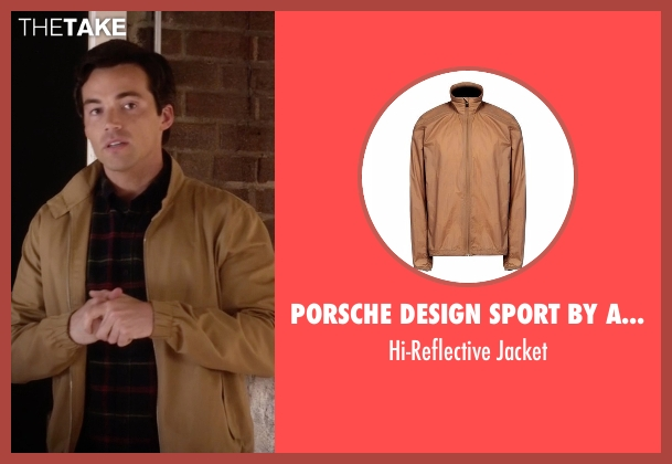 Porsche Design Sport By Adidas brown jacket from Pretty Little Liars seen with Ezra Fitz (Ian Harding)