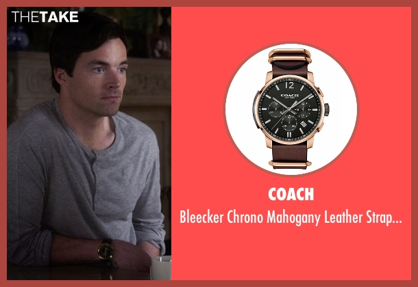 Coach brown watch from Pretty Little Liars seen with Ezra Fitz (Ian Harding)