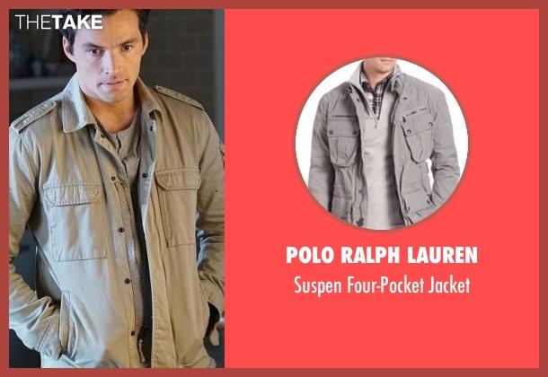 Polo Ralph Lauren  gray jacket from Pretty Little Liars seen with Ezra Fitz (Ian Harding)
