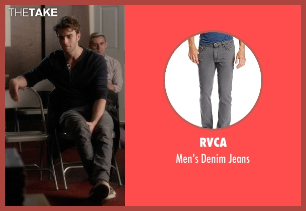 RVCA gray jeans from Pretty Little Liars seen with Ezra Fitz (Ian Harding)