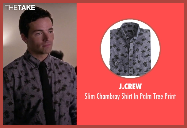 J.Crew gray print from Pretty Little Liars seen with Ezra Fitz (Ian Harding)