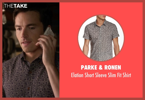 Parke & Ronen gray shirt from Pretty Little Liars seen with Ezra Fitz (Ian Harding)