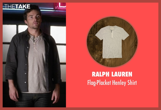 Ralph Lauren  gray shirt from Pretty Little Liars seen with Ezra Fitz (Ian Harding)