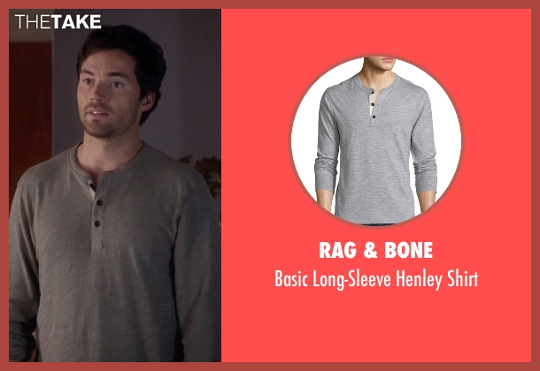 Rag & Bone gray shirt from Pretty Little Liars seen with Ezra Fitz (Ian Harding)