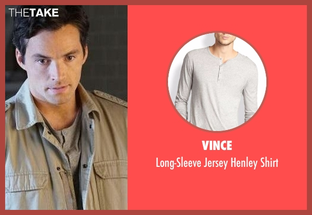 Vince gray shirt from Pretty Little Liars seen with Ezra Fitz (Ian Harding)