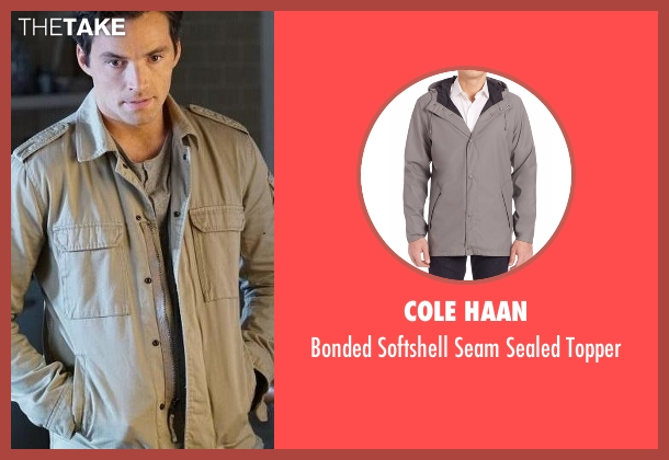 Cole Haan gray topper from Pretty Little Liars seen with Ezra Fitz (Ian Harding)