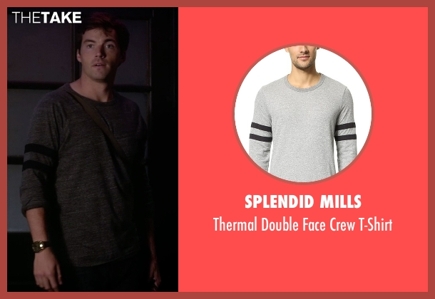Splendid Mills gray t-shirt from Pretty Little Liars seen with Ezra Fitz (Ian Harding)