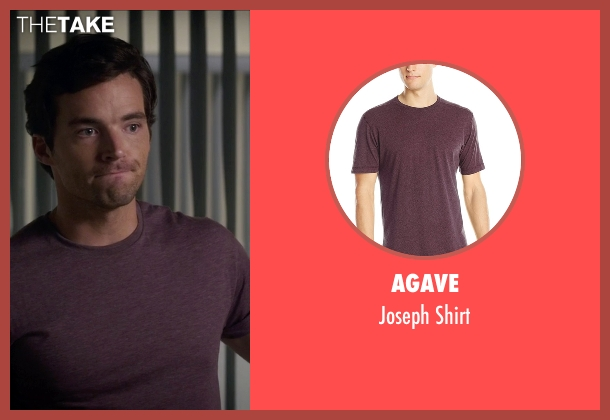 Agave purple shirt from Pretty Little Liars seen with Ezra Fitz (Ian Harding)