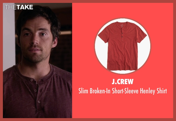 J.Crew red shirt from Pretty Little Liars seen with Ezra Fitz (Ian Harding)