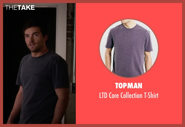 Topman red t-shirt from Pretty Little Liars seen with Ezra Fitz (Ian Harding)