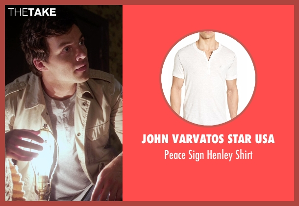 John Varvatos Star USA white shirt from Pretty Little Liars seen with Ezra Fitz (Ian Harding)