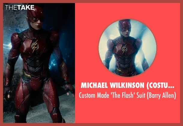 Michael Wilkinson (Costume Designer) suit from Justice League seen with Ezra Miller (Barry Allen / The Flash)