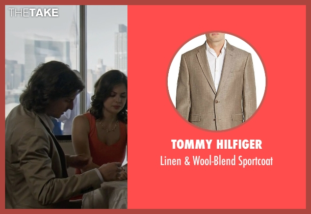 Tommy Hilfiger beige sportcoat from The Blacklist seen with Ezra (Hal Ozsan)