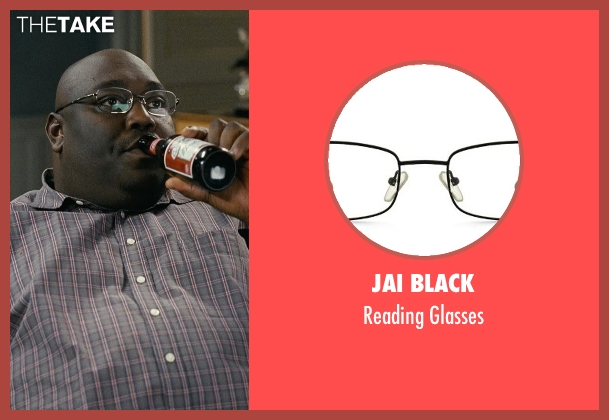 Jai Black black glasses from Couple's Retreat seen with Faizon Love (Shane)
