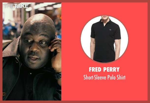 Fred Perry black shirt from Couple's Retreat seen with Faizon Love (Shane)