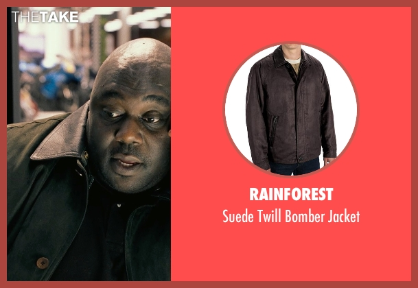 Rainforest brown jacket from Couple's Retreat seen with Faizon Love (Shane)