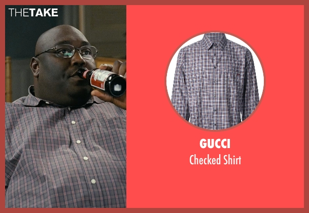 Gucci brown shirt from Couple's Retreat seen with Faizon Love (Shane)