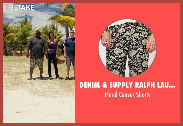 Denim & Supply Ralph Lauren brown shorts from Couple's Retreat seen with Faizon Love (Shane)