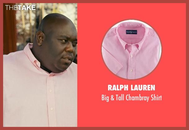 Ralph Lauren pink shirt from Couple's Retreat seen with Faizon Love (Shane)