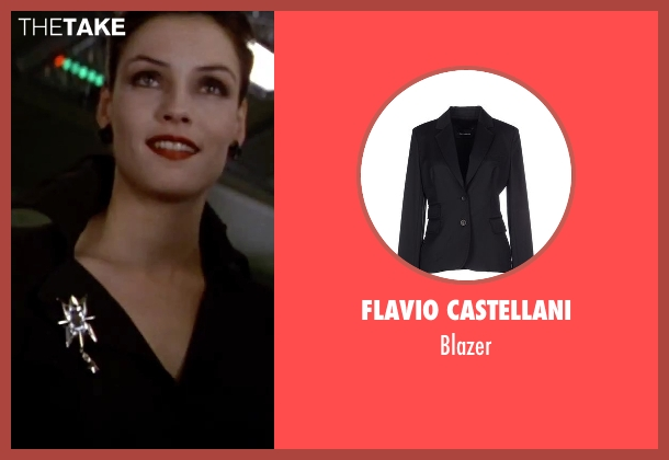 Flavio Castellani black blazer from GoldenEye seen with Famke Janssen (Xenia Onatopp)