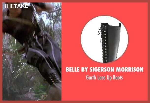 Belle by Sigerson Morrison black boots from GoldenEye seen with Famke Janssen (Xenia Onatopp)