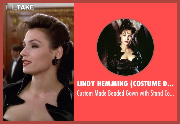Lindy Hemming (Costume Designer) black neckline from GoldenEye seen with Famke Janssen (Xenia Onatopp)