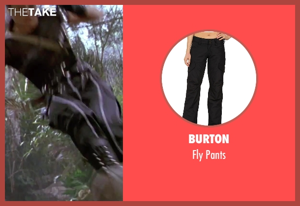 Burton black pants from GoldenEye seen with Famke Janssen (Xenia Onatopp)