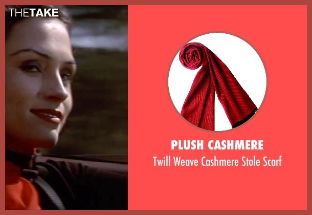 Plush Cashmere red scarf from GoldenEye seen with Famke Janssen (Xenia Onatopp)