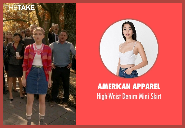American Apparel blue skirt from Scream Queens seen with Feather McCarthy (Tavi Gevinson)
