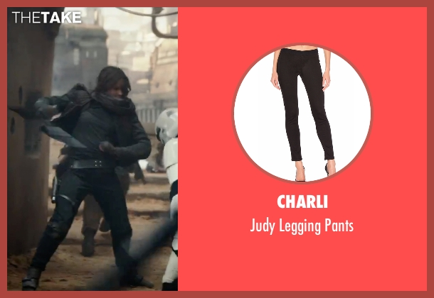 Charli black pants from Rogue One: A Star Wars Story seen with Felicity Jones (Jyn Erso)