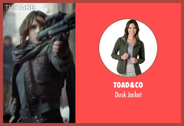 BB Dakota green jacket from Rogue One: A Star Wars Story seen with Felicity Jones (Jyn Erso)