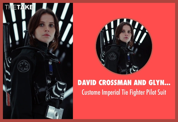 David Crossman and Glyn Dillon (Costume Designers) suit from Rogue One: A Star Wars Story seen with Felicity Jones (Jyn Erso)